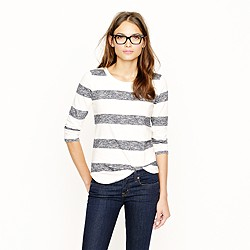 Loomknit sweatshirt in stripe