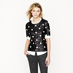 Polka-dot sequin top
