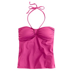 Pintuck bandeau swing top