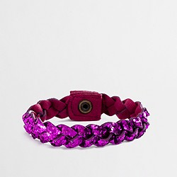 Factory girls' glitter braided bracelet