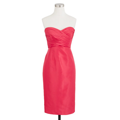 Petite Kristin dress in silk taffeta