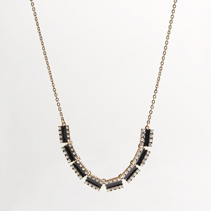 Factory crystal rail track necklace