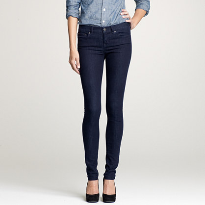 Leggy denim jean in double-dip indigo wash