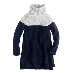 Girls' colorblock lambswool tunic