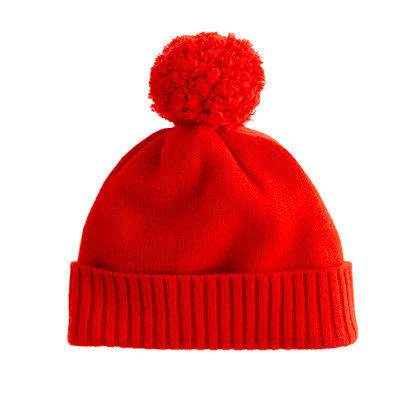 Girls' cashmere solid hat