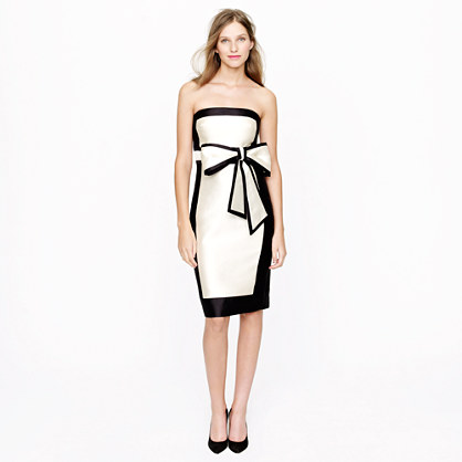 J Crew, Collection framed bow dress, black and white, holiday dress