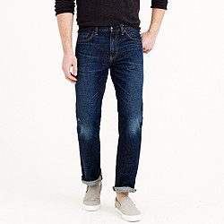 Bootcut jean in dark worn wash