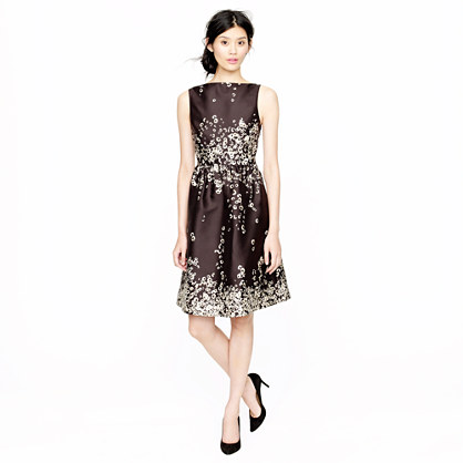 Collection printed floral shantung dress
