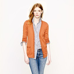 Perfect-fit mixed-tape cardigan