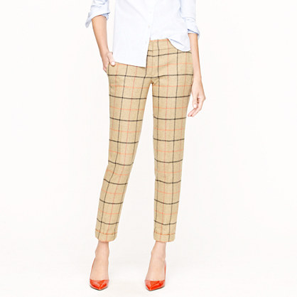 Café capri in camel plaid