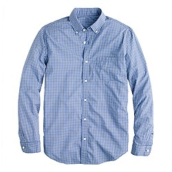 Tall Secret Wash shirt in glacier blue gingham