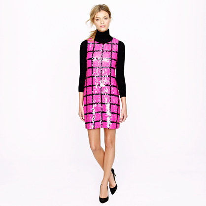 Collection windowpane sequin shift