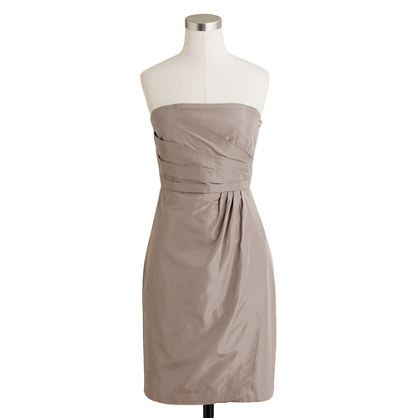 Petite Selma dress in silk taffeta