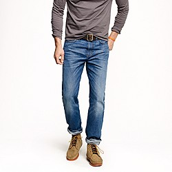 Slim-straight jean in vintage worn wash