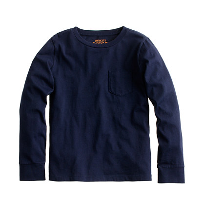 Boys' long-sleeve jersey pocket tee