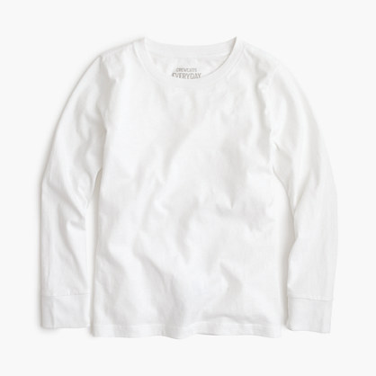 Boys' long-sleeve jersey tee