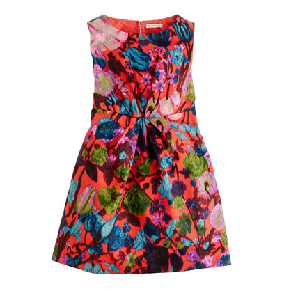 Girls' flame floral dress