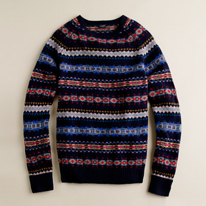 Fine lambswool Aberdeen Fair Isle sweater