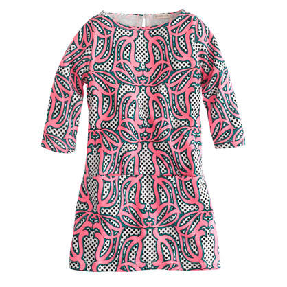 Girls' mini Jules dress in neon swirl print