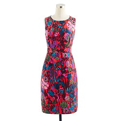 Flame floral jacquard dress