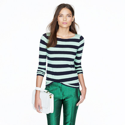 Painter boatneck tee in stripe