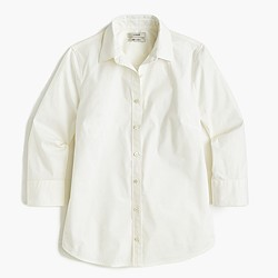 Petite three-quarter sleeve stretch perfect shirt