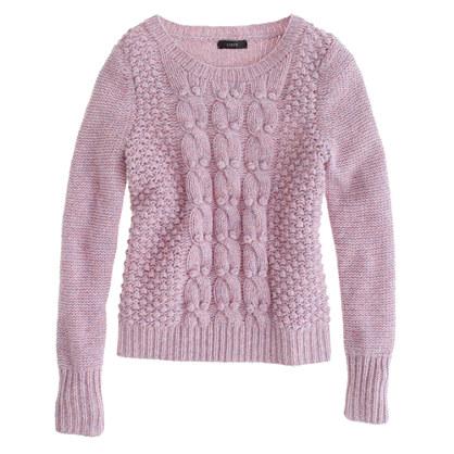 Handknit popcorn sweater