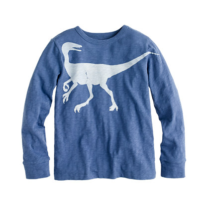 Boys' long-sleeve dinosaur tee