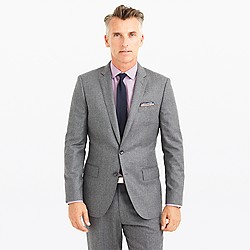 Ludlow suit jacket with double vent in Italian wool flannel