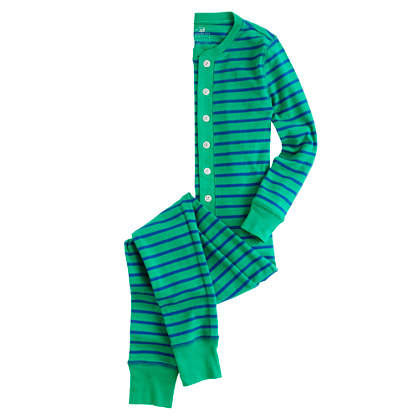 Boys' union suit in stripe