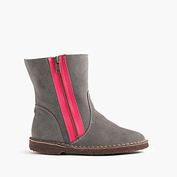Girls' neon zipper chalet boots