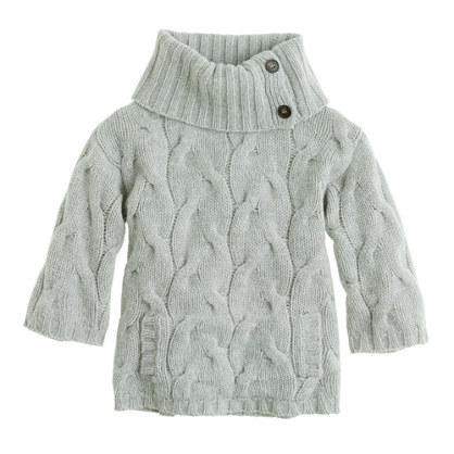 Girls' cabled lambswool popover