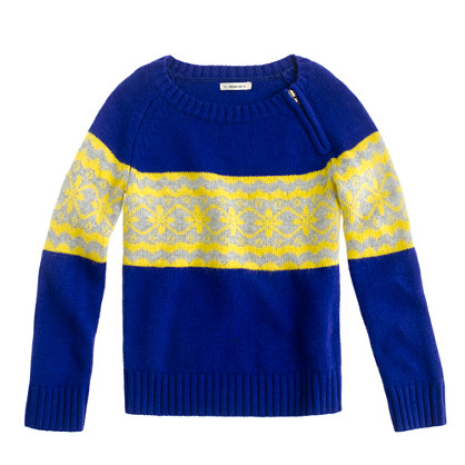 Girls' Fair Isle stripe sweater