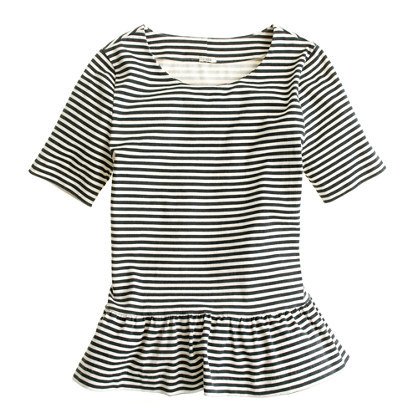 Peplum stripe top
