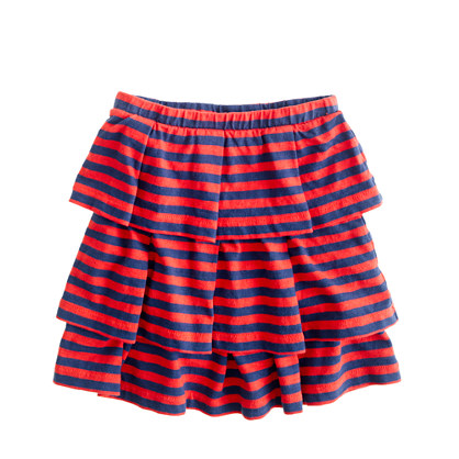 Girls' cupcake skirt in stripe