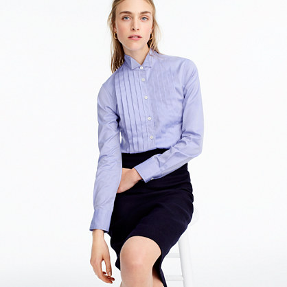 Thomas Mason® for J.Crew tuxedo shirt in blue