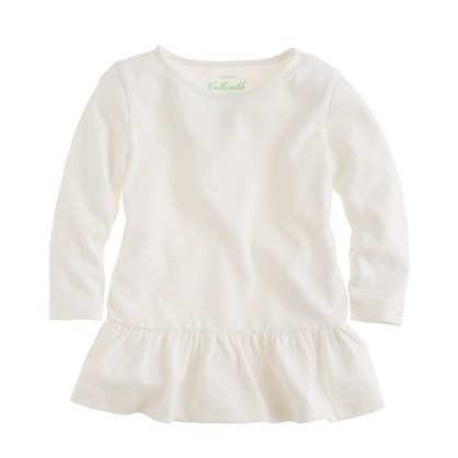 Girls' peplum tee