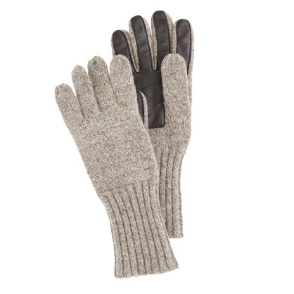 Wool gloves with TouchTec® palm patch