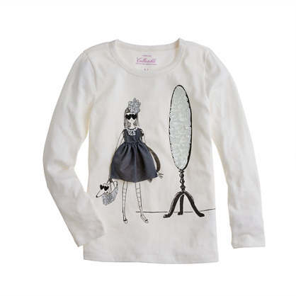 Girls' long-sleeve party-perfect tee