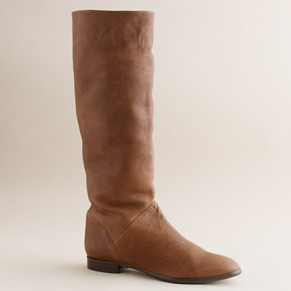 Sutton tall leather flat boots