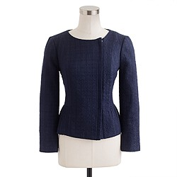 Peplum jacket in tonal tweed