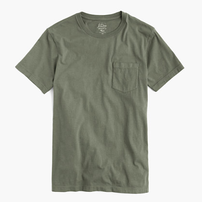 Slim broken-in pocket tee