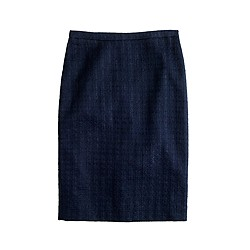 Pencil skirt in tonal tweed