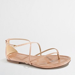 Factory strappy patent sandals