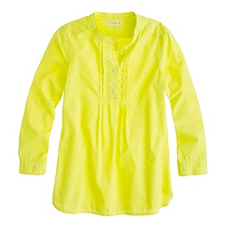 Girls' pleated bib tunic in neon