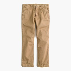 Boys' sun-faded chino in slim fit