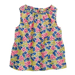 Girls' garden floral bow tank