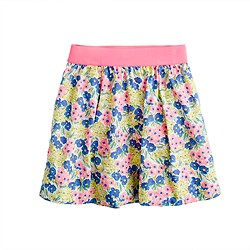 Girls' garden floral skirt