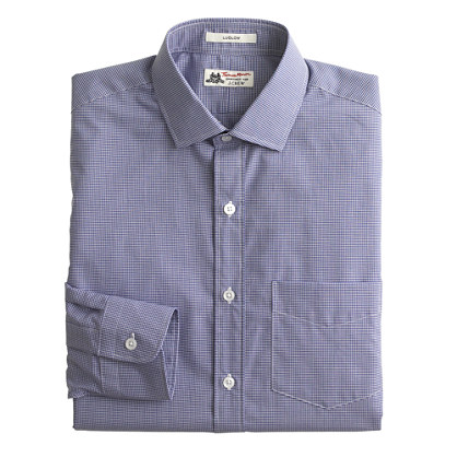 Thomas Mason® Ludlow shirt in baltic microgingham