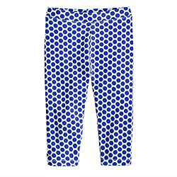 Girls' everyday capri leggings in spotted